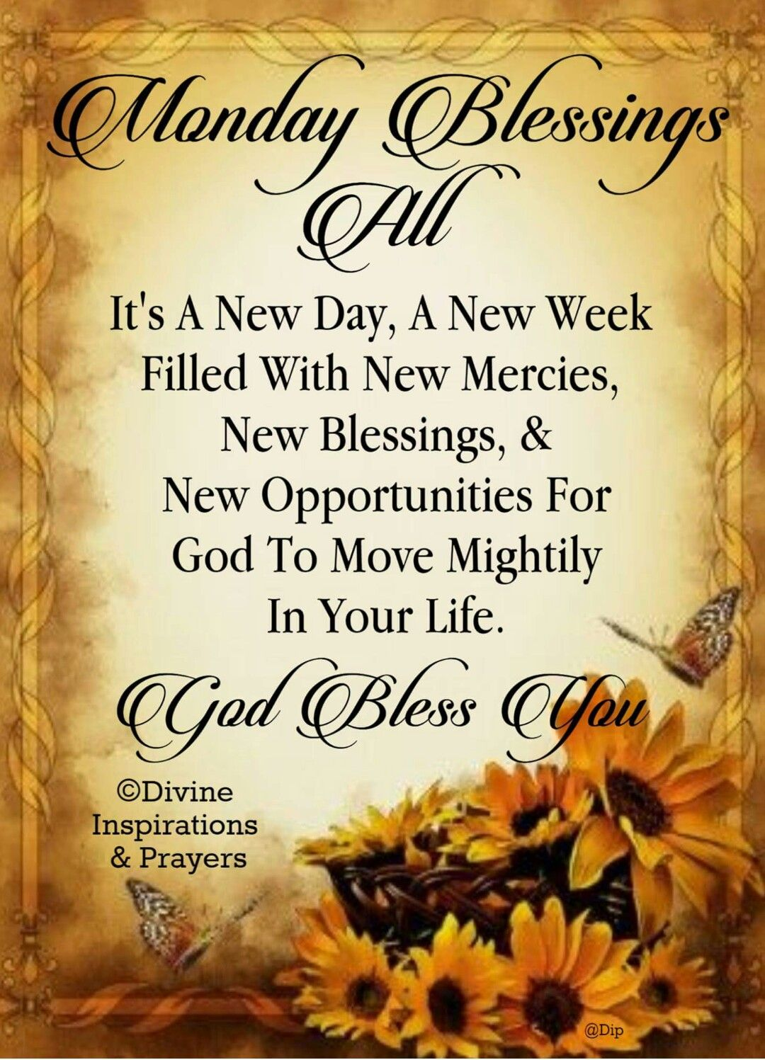 Monday Blessings Scripture Inspiration Pinterest Monday