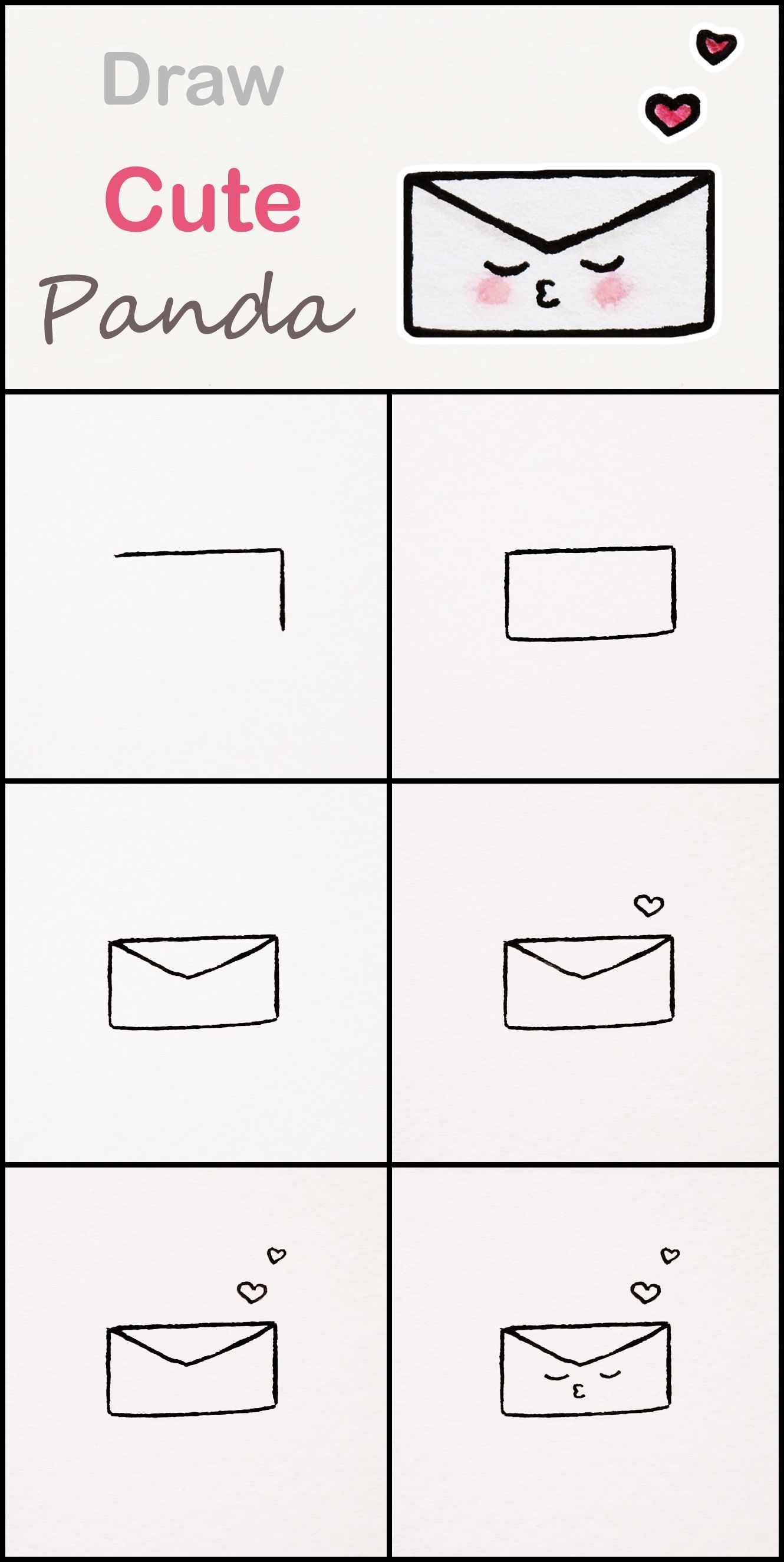 Learn How To Draw A Cute Envelope Step By Step Very Simple