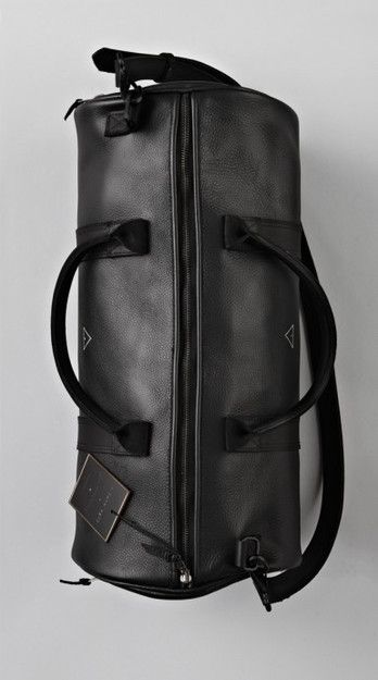 Black Leather Boxing Duffle - Bags - Lifestyle  d62d3f03f1666