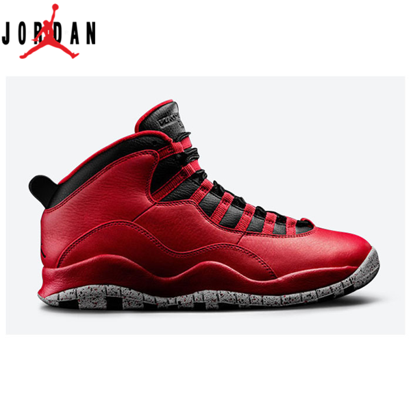 8c3289836949 Authentic 705178-601 Air Jordan 10 Retro Gym Red Black-Wolf Grey ...