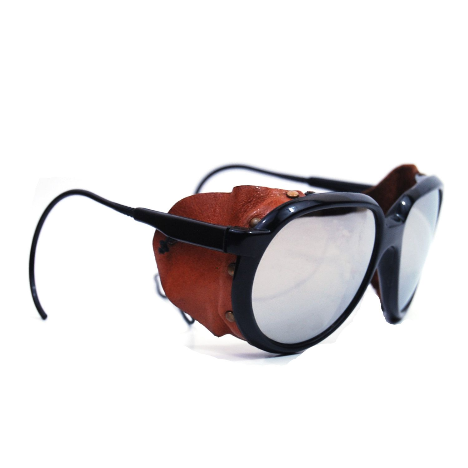 Vintage Ray Ban Bausch & Lomb Glacier Arctic Cats Leather Sunglasses