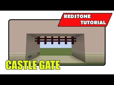 Super Simple Castle Gate [Portcullis] (Minecraft Xbox TU22/PlayStation CU8) - YouTube