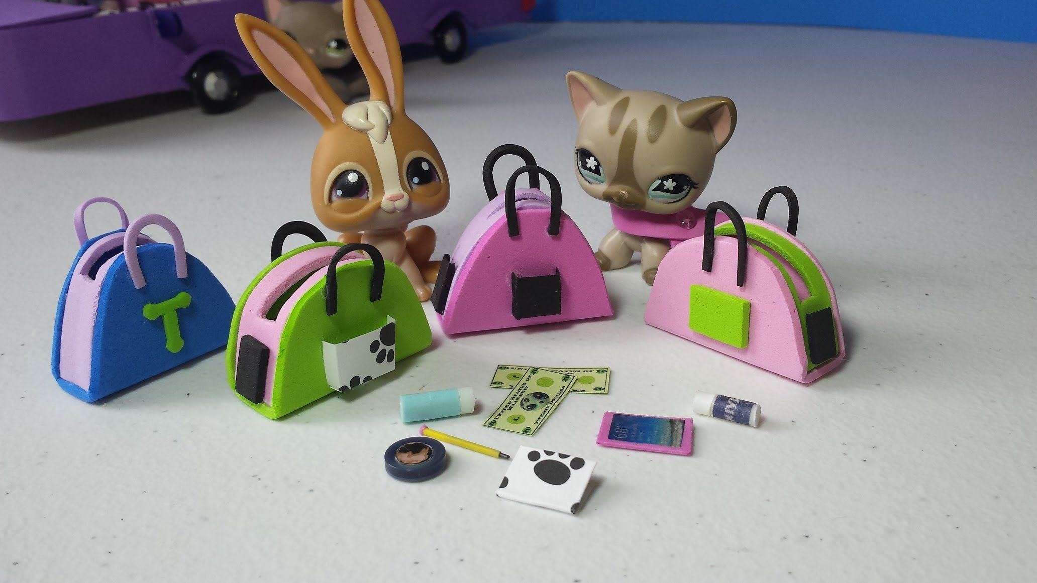 LARGE lot of lps,barbie,lol size phones and tablets handmade