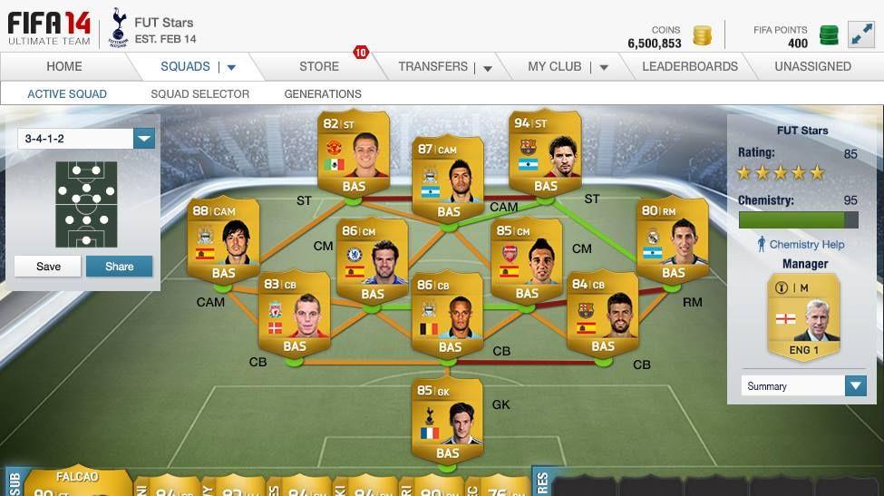 Fifa 14 Ultimate Team Web App Ea Fifa 14 Fifa Teams Professional Website