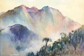Japanese Watercolor Mountain Google Search Japanese Watercolor