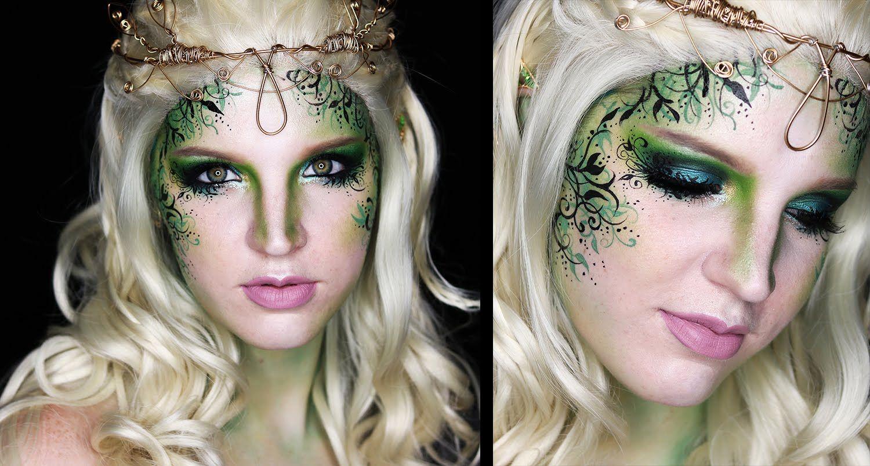 Forest Fairy Makeup Tutorial Fairy Halloween Makeup Woodland Fairy Makeup Fairy Eye Makeup