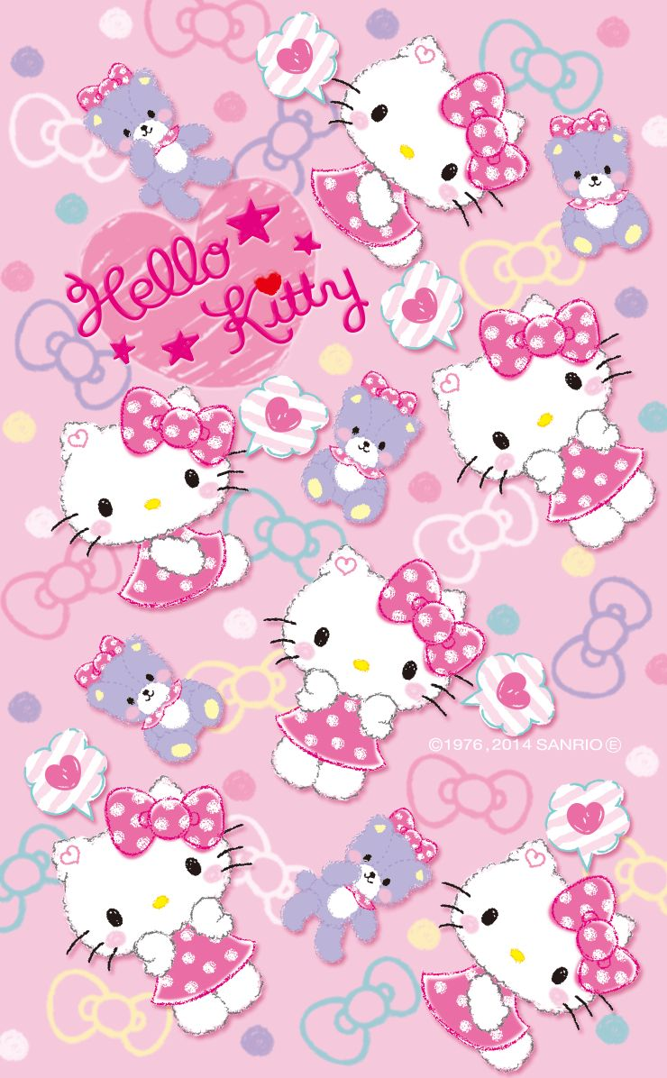 Hello Kitty Wallpaper By Artist Unknown Kitty Pinterest
