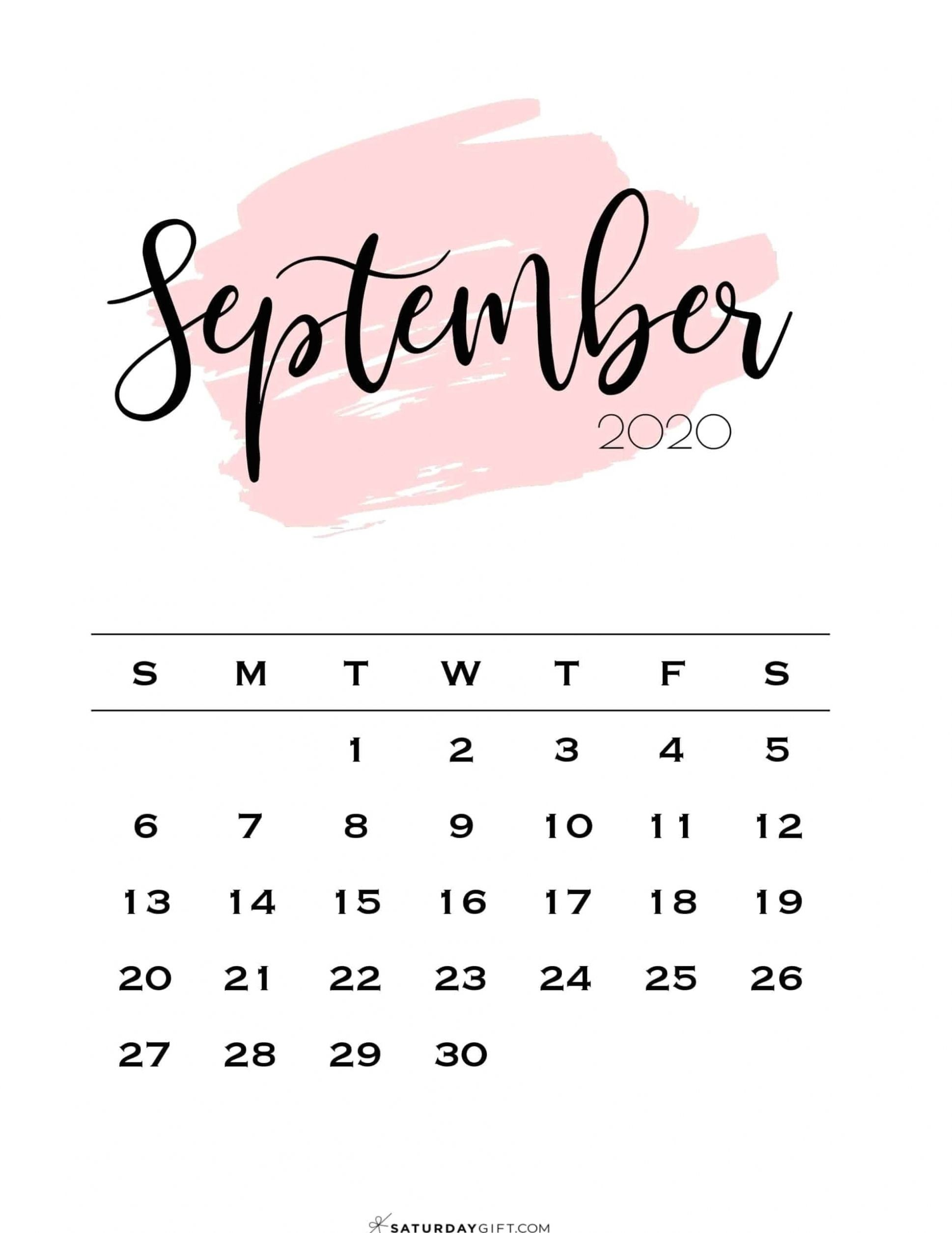 Looking for a cute, free printable September 2020 calendar? Here are some you might like! Choose your favorite from the pretty calendar designs! Computer schedules give people that have an opportune solution to record the days as well as appointments. These items arrive in a variety of models, colours and also configurations. If you may well ask yourself the key reason why these people should choose this type of diary previously mentioned the rest, there are a few often-cited good reasons to he