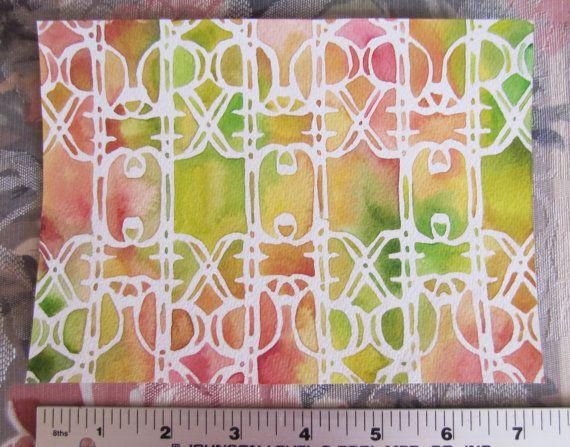 Pattern Emmeline in Yellow-Green  Orange\