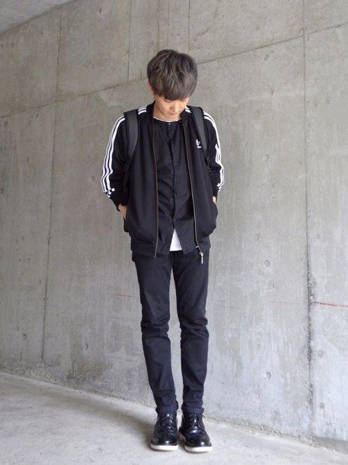 なお Adidas Originalsのジャージを使ったコーディネート Adidas