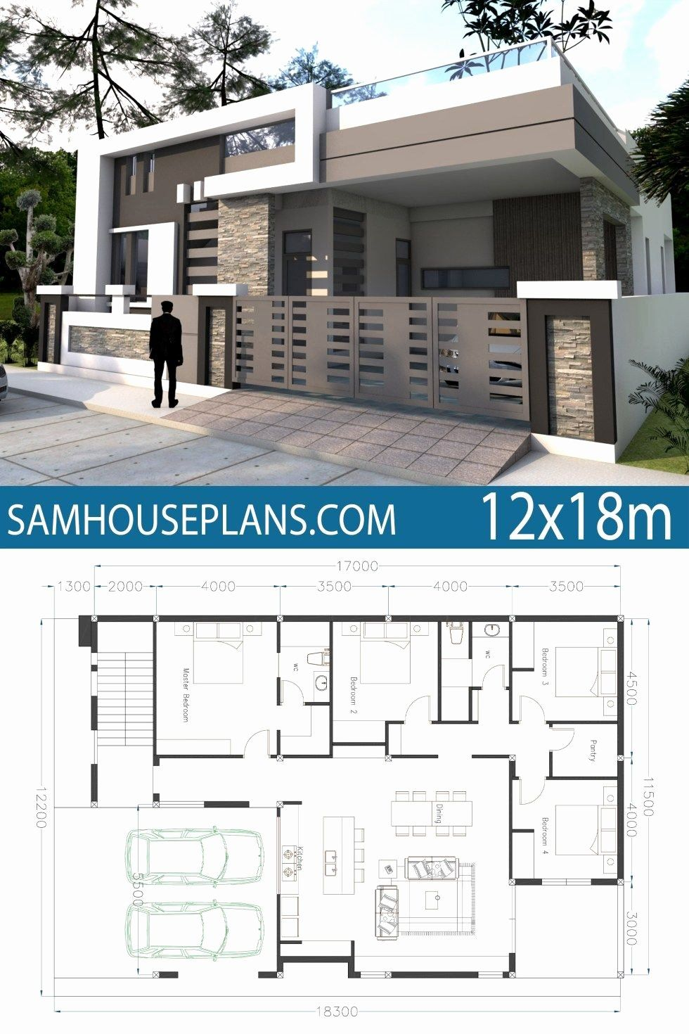 Simple House Plans 4 Bedroom Best Of Home Design 40x60f With 4 Bedrooms Single Floor House Design Small Modern House Plans Bungalow House Design