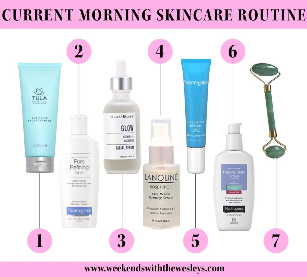 My Current 7 Step Morning Skincare Routine Weekends Morning Skin Care Routine Morning Skincare Skin Care Routine
