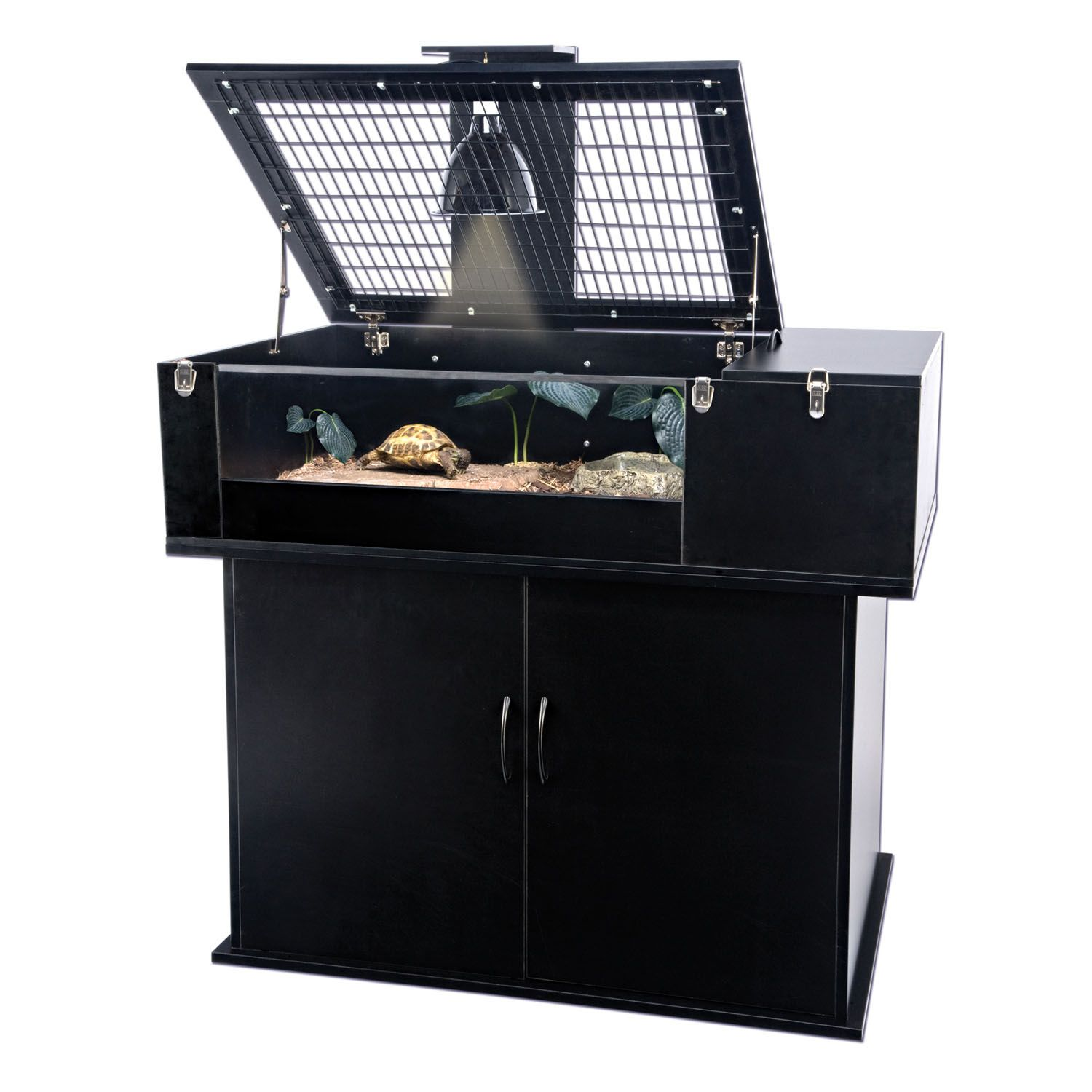 Penn plax reptology tortoise palace and stand combo love for Fish tank and stand combo