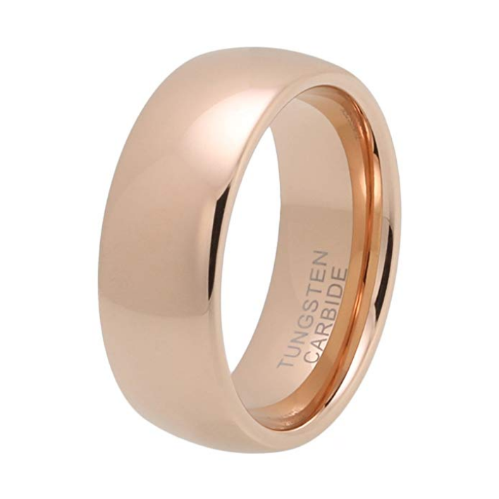 730f51ab513 8MM Domed Rose Gold Tungsten Wedding Band