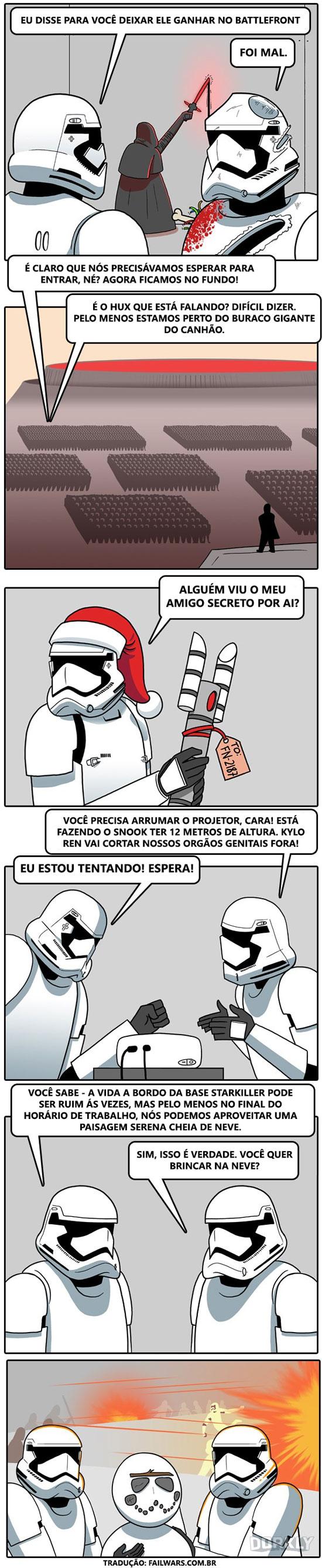 A vida de um Stormtrooper na base Starkiller não é nada fácil...