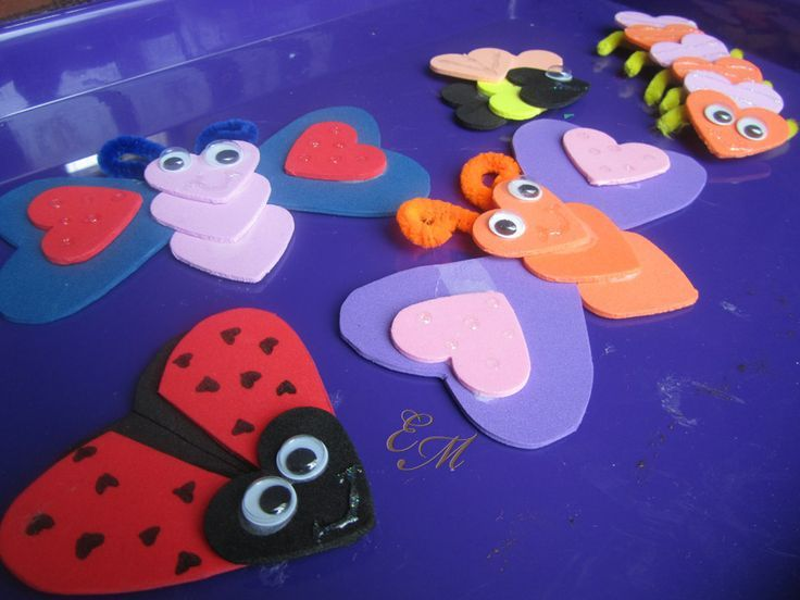 crafts love bugs | Valentine's Day Love Bugs Crafts | Holiday: Valentine's Day