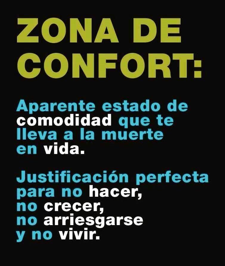 zona de confort...
