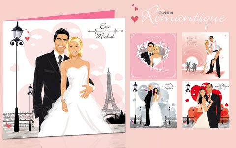 Faire Part De Mariage Original Romantique Retro Original