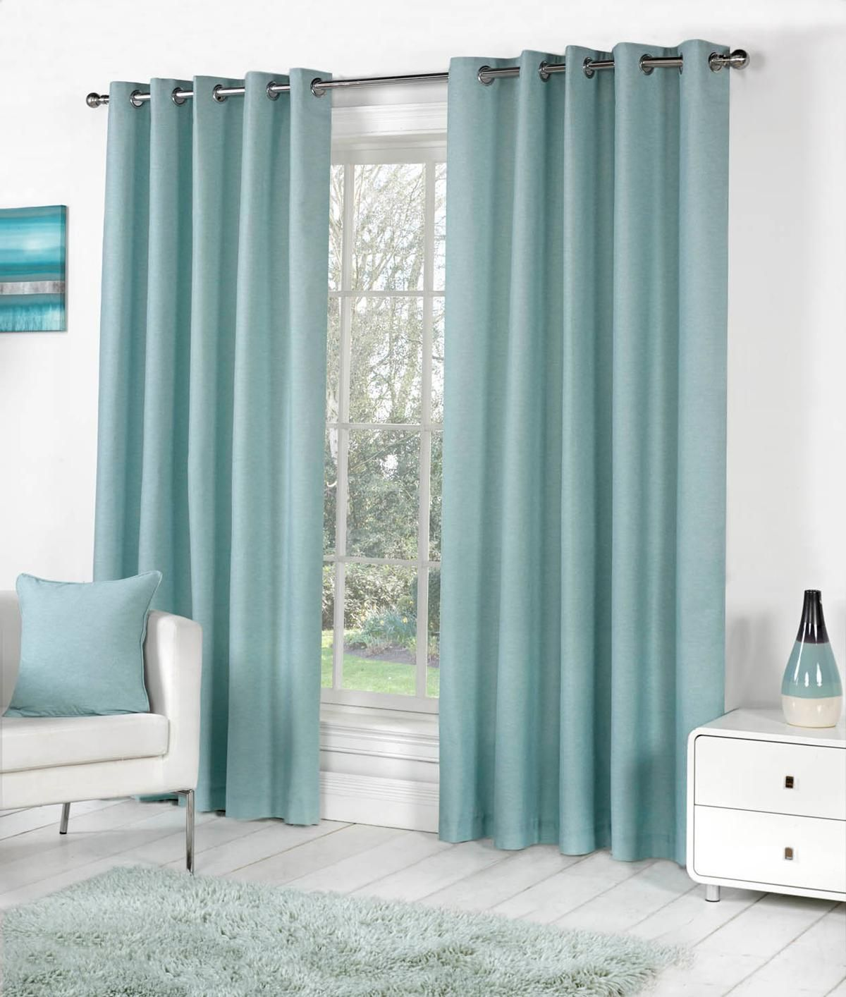 Teal Silver Curtains Sorbonne Ready Made Lined Eyelet Curtains Design Inspiration In