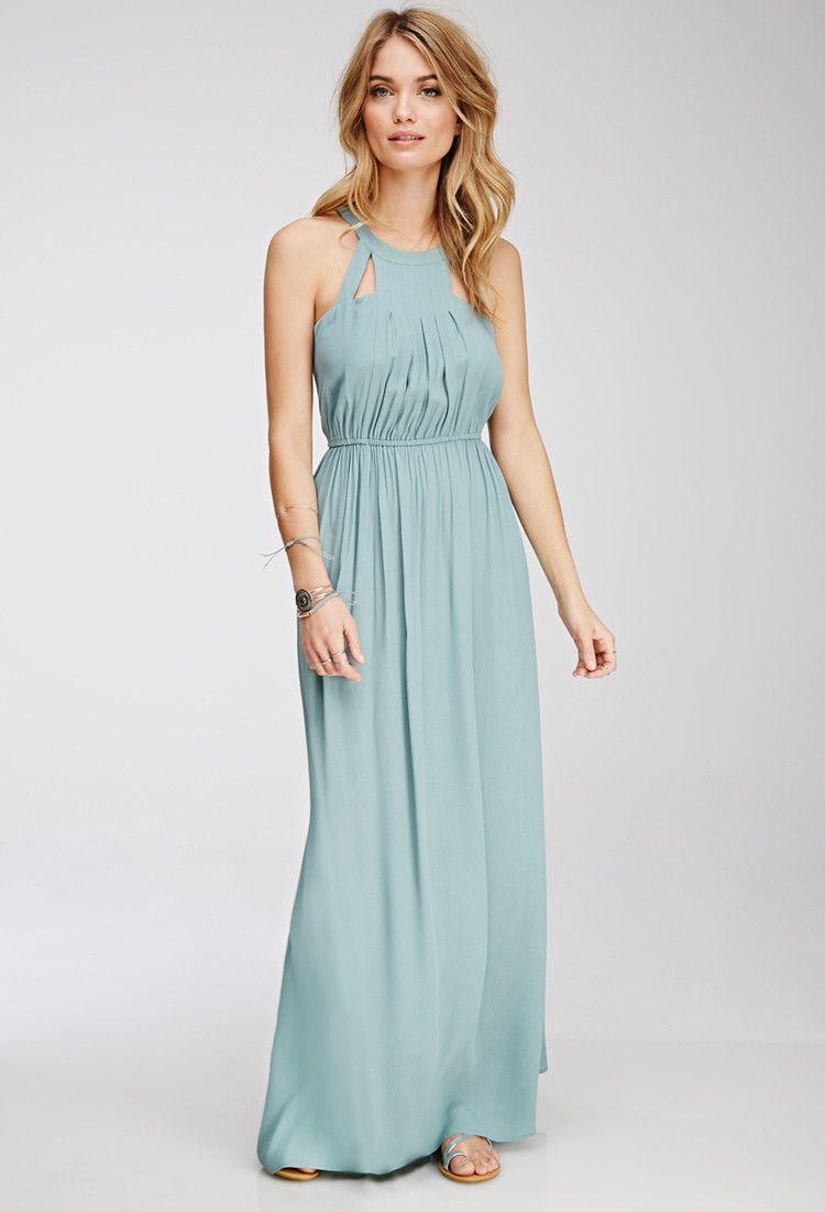 Cutout Halter Maxi Dress - Dresses - Midi + Maxi Dresses ...
