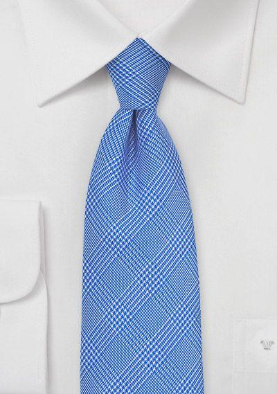 Marina Blue Silk Tie with Glen Plaid Checks, $39.90 | Cheap-Neckties.com