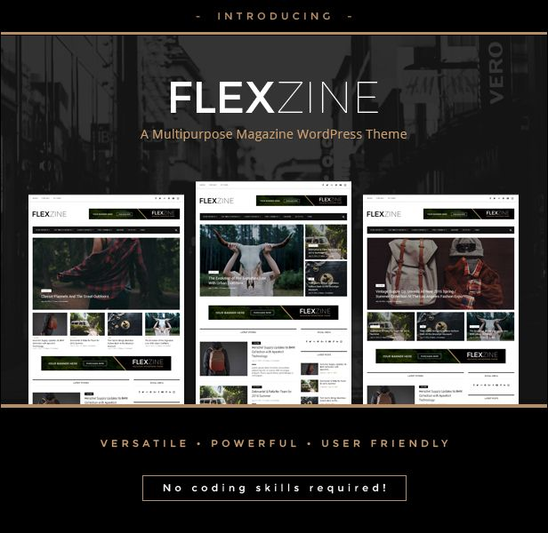 Flexzine - Fashion Magazine WordPress Blog Theme | Wordpress blog ...