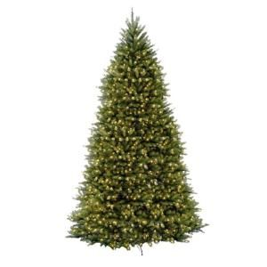 Home Accents Holiday 12 Ft Dunhill Fir Led Pre Lit Artificial Christmas Tree With 1500 White Mini Lights Duh3 120lo S The Home Depot Christmas Tree Clear Lights Pre Lit Christmas Tree Fir Christmas