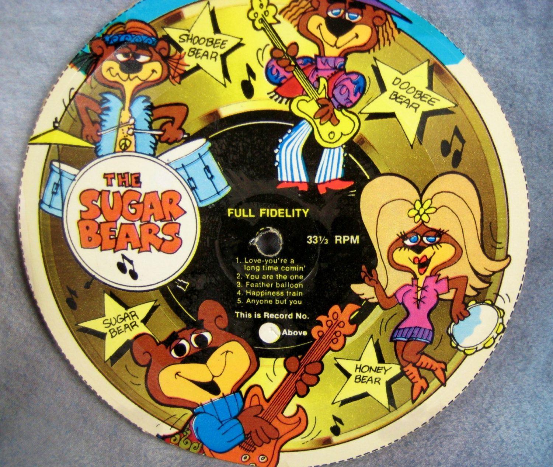 Set Of 4 1970s Sugar Crisp CARDBOARD Cereal Box RECORDS