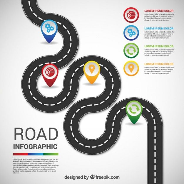 infographie routier Graphics and Infographic - blank road map