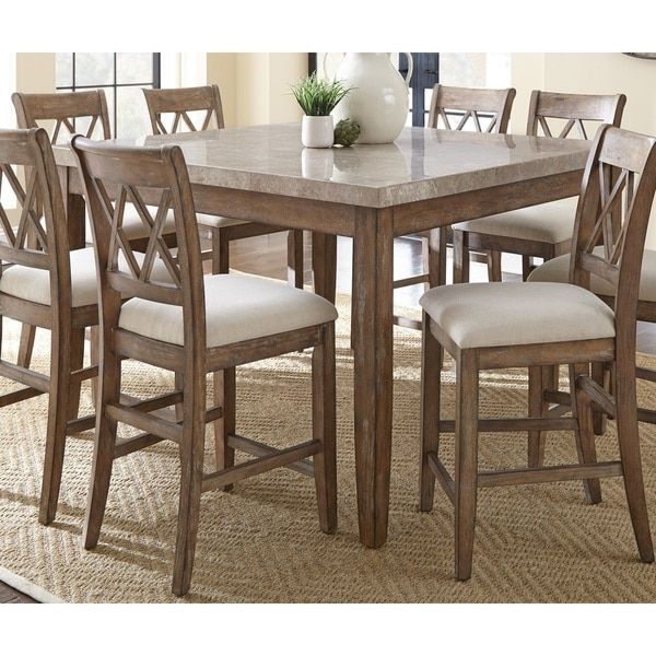 Greyson Living Fulham Marble Top Counter Height Dining Table Prepossessing High Dining Room Table Inspiration