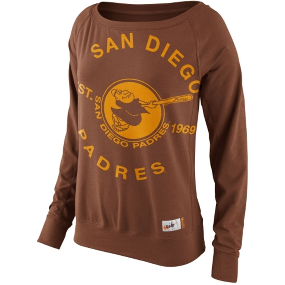 online retailer 5b5a5 1a2bd Nike San Diego Padres Ladies Cooperstown Washed Epic Crew ...