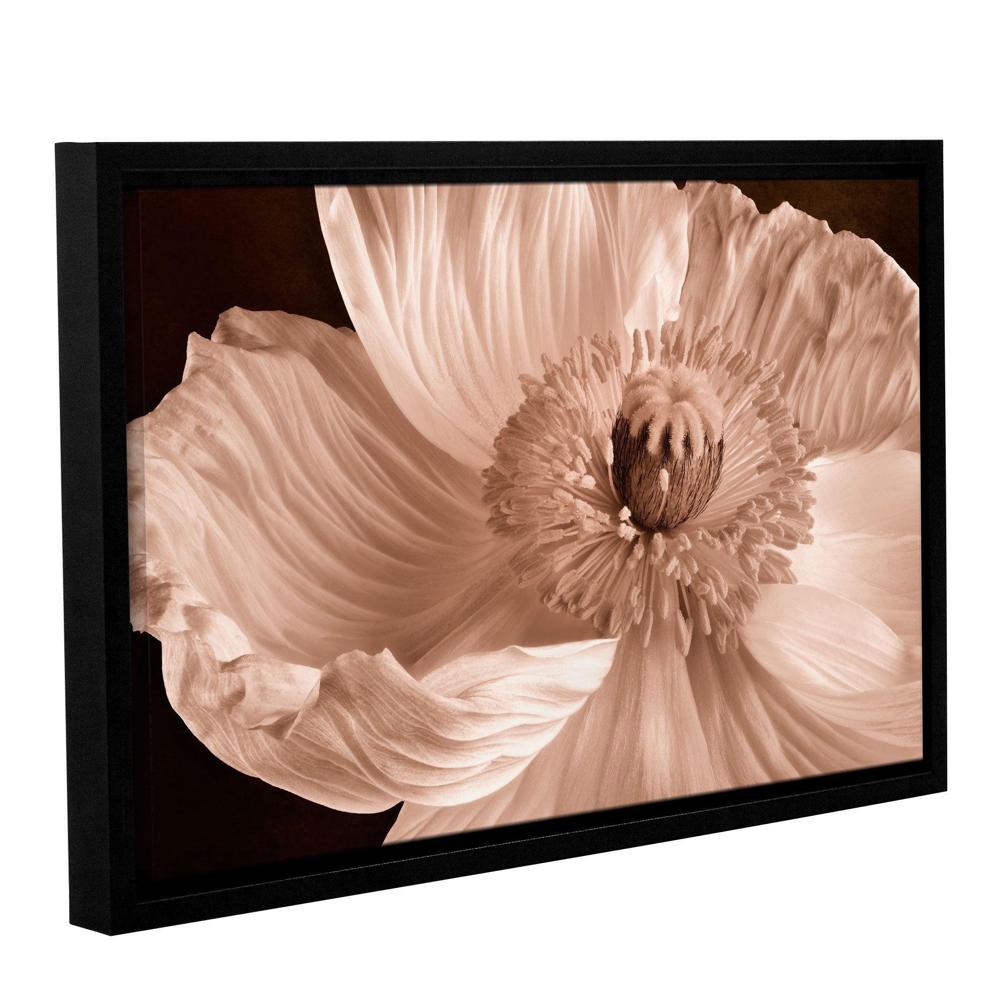 ArtWall Cora Niele's Poppy Gallery Wrapped Floater-framed