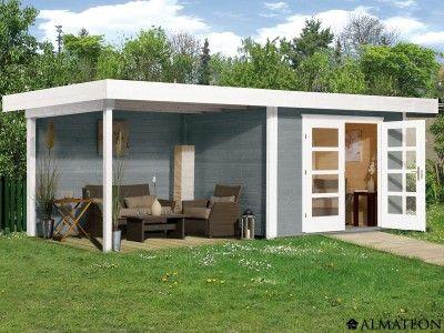 Abri en bois de 19 m² Modèle  Chill-Out 3 Dimensions  645 x 290