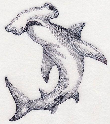hammerhead shark sketch embroidery designs that i have pinterest hammerhead shark shark. Black Bedroom Furniture Sets. Home Design Ideas