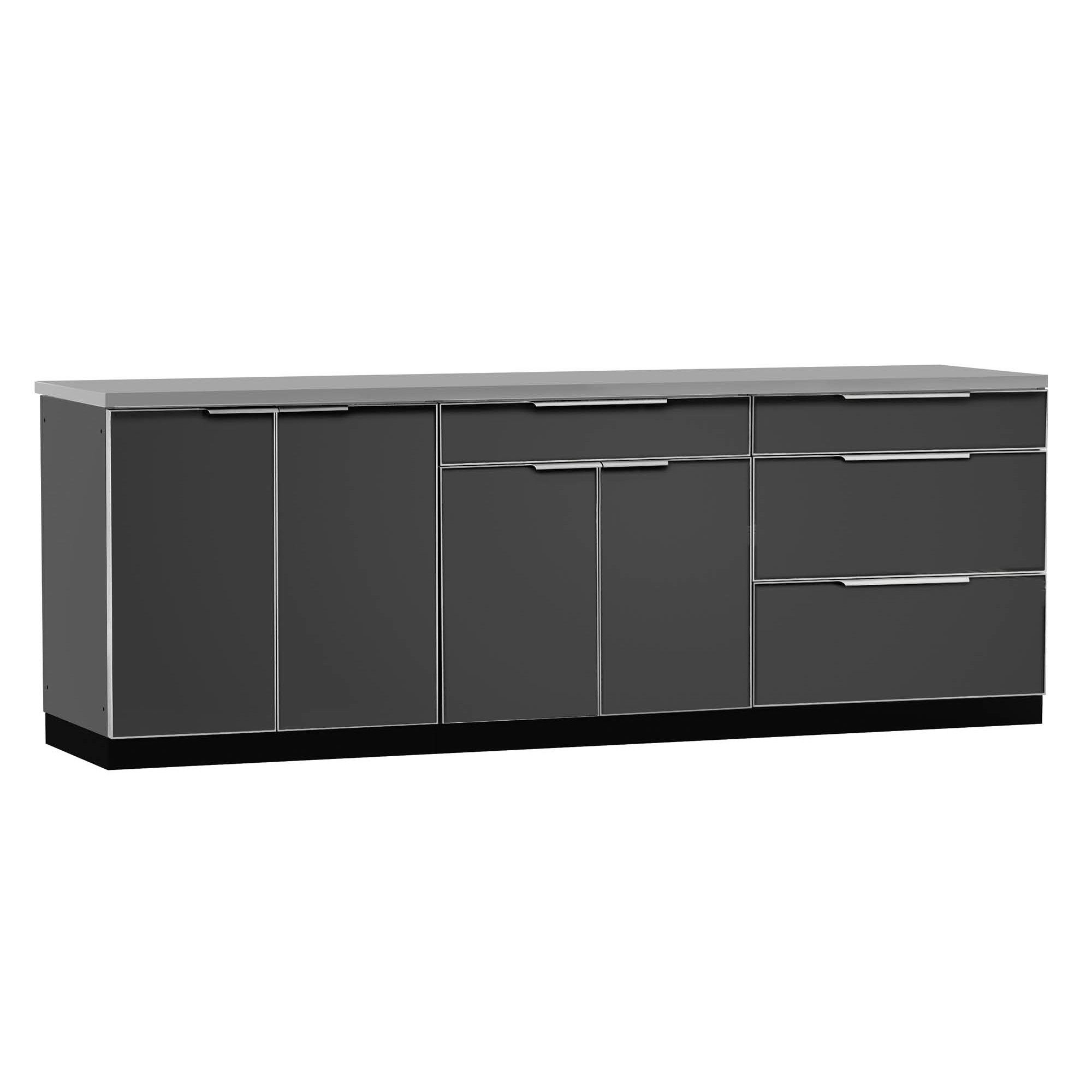 Stainless steel bar center 3piece modular outdoor kitchen