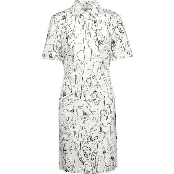 Jason Wu Layered printed cotton-blend twill mini dress featuring polyvore  women's fashion clothing dresses