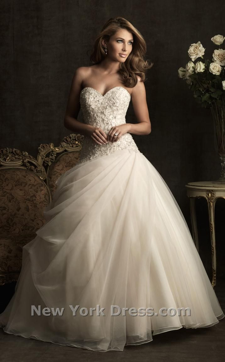 Allure 8901 is a beautiful strapless fairy tale bridal gown.(price ...