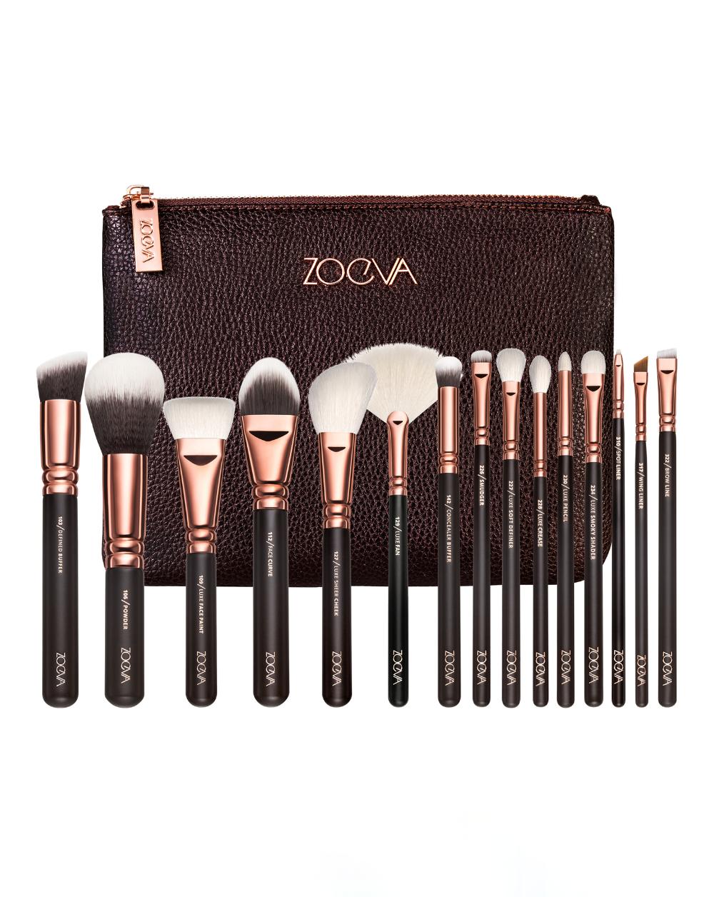 Rose Golden Complete Brush Set Volume 1 by ZOEVA