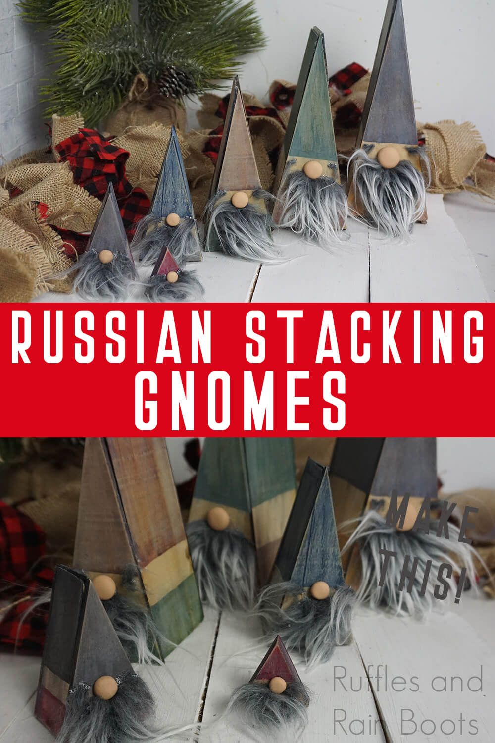 Stacking Gnomes for Christmas