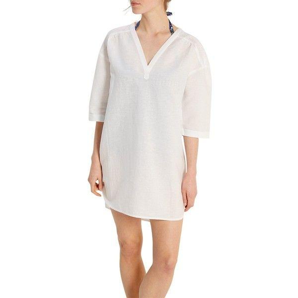 Shirt dress white stuff coming.