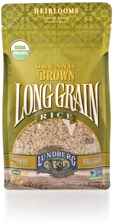 Lundberg organic brown long grain rice 2 lb long grain