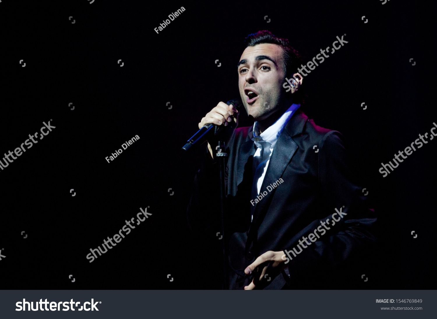 Milan Italy 19 April 2012  Live concert of Marco Mengoni  Tour Teatrale 2012 at the