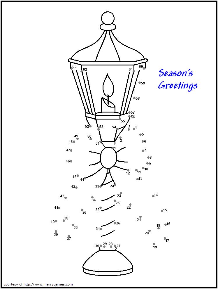 christmas lamp coloring sheet Free christmas printables
