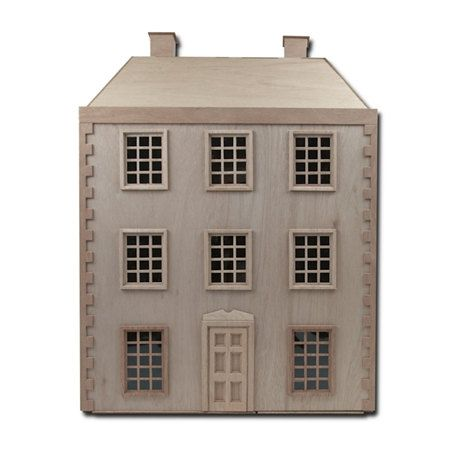 Elegant French Chateau Front Opening Wooden Dollhouse Kit Scale One Inch Front Open Dollhouse Dollhouse Kits Doll House
