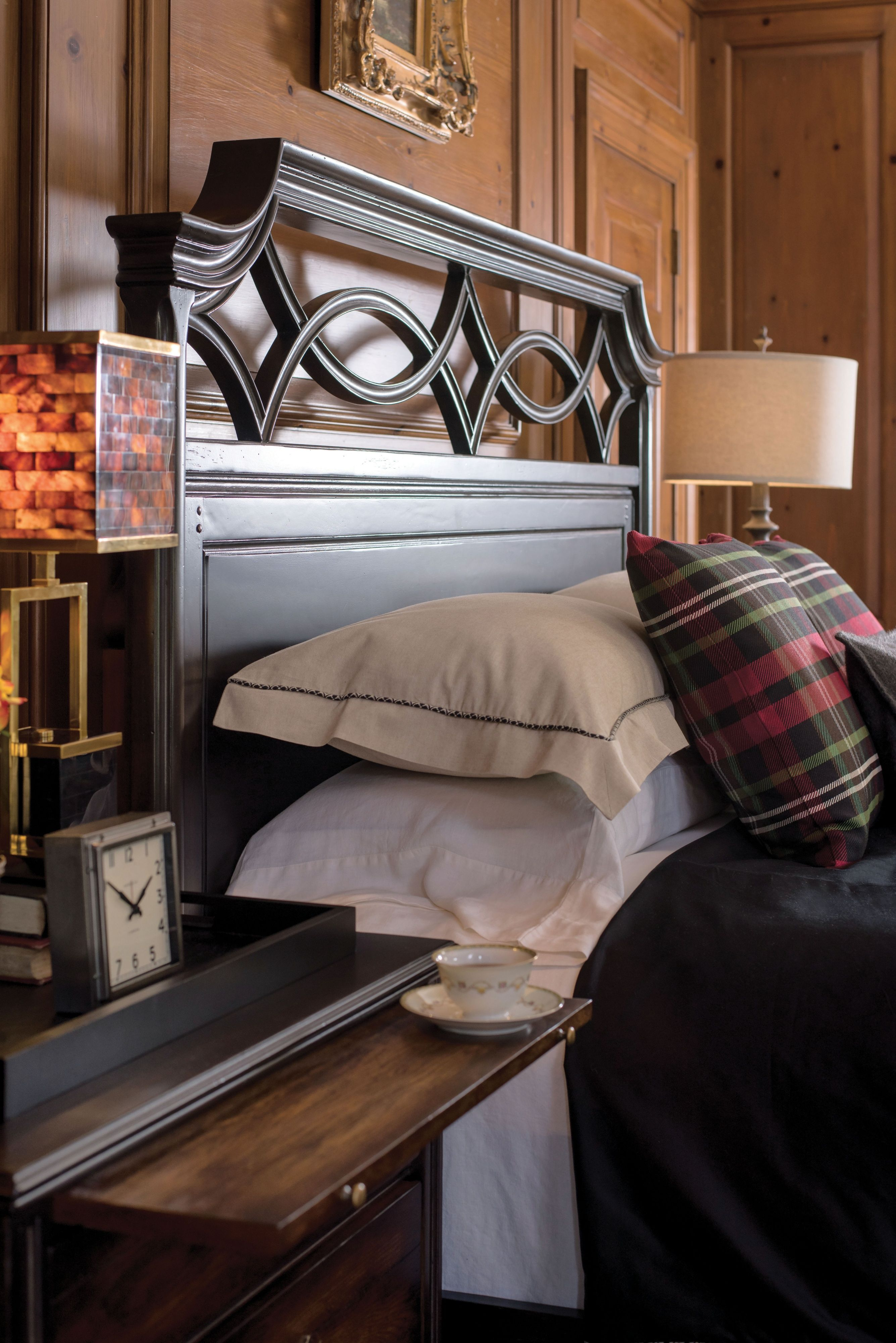 Shown here Close up of Brighthamption Queen bed headboard