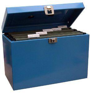 Lockable Foolscap Metal File Box Filing Storage extr//inc 5 Free Suspension Files