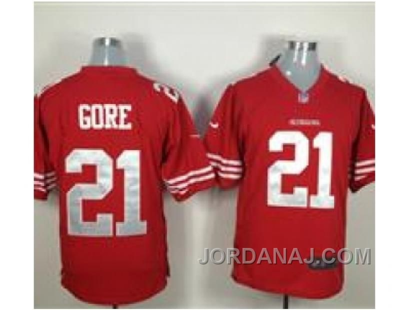 9eb8ca71454 Nike NFL San Francisco 49ers  21 Frank Gore Red Game Jerseys ...