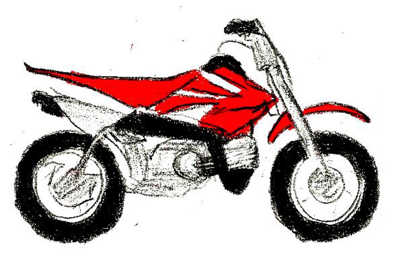 Draw Dirt Bikes Criancas Pombo