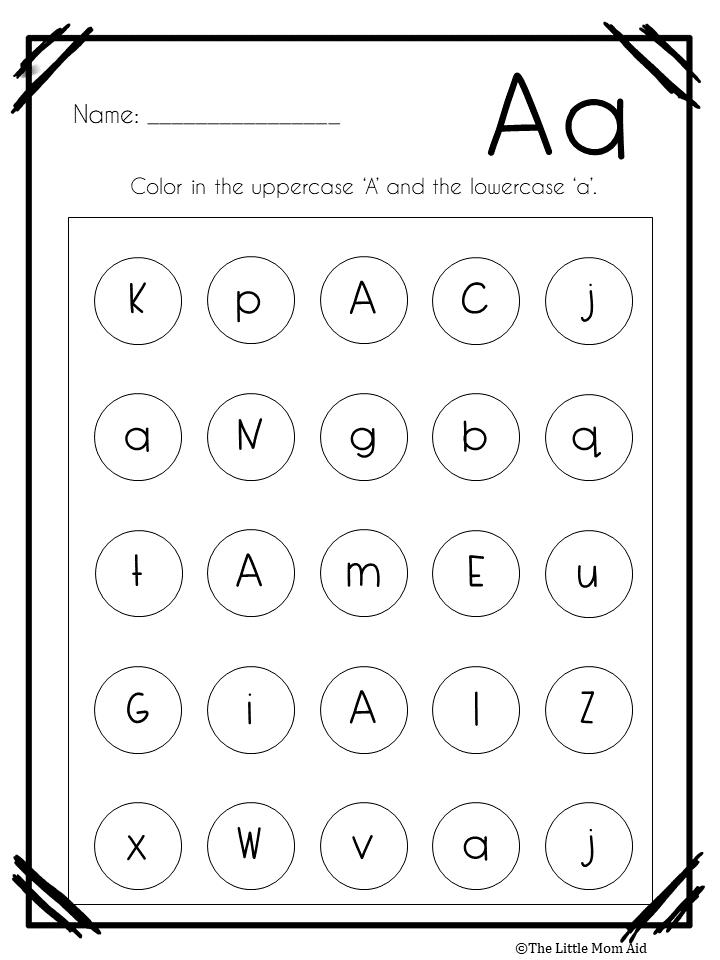 Alphabet Letter Find Worksheets: Uppercase And Lowercase Letter  Recognition Worksheets, Alphabet Letter Practice, Alphabet Recognition