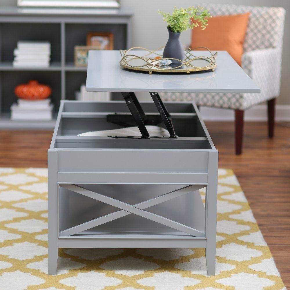 Belham Living Hampton Lift Top Coffee Table Gray Designed In
